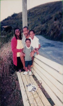 My family in Bellevue, Tortola BVI