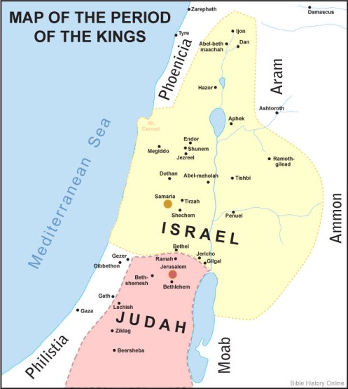 Israel and Judah in the period of the kings - Bible history.com