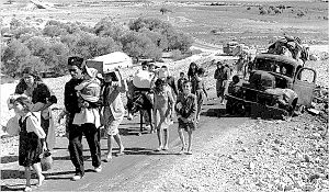 Palestinian refugees in 1948. Image courtesy of wikipedia.org