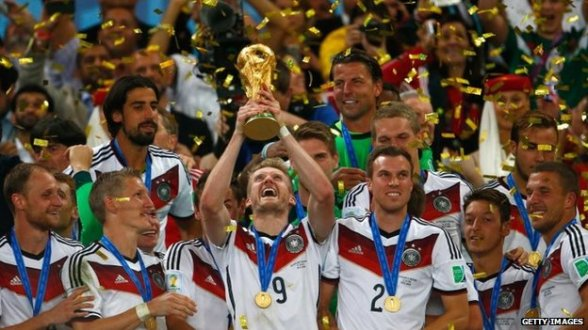 German football team - World Cup winners. Image courtesy of BBC News.com