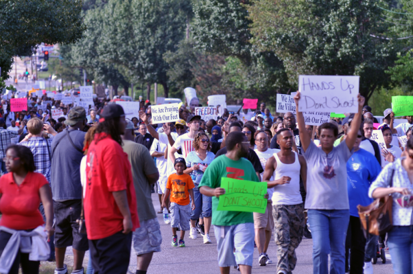 Protests at Ferguson, USA August 14, 2014. Image courtesy of Wikipedia.org