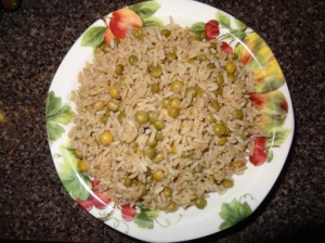 Rice and green Gungo peas/wonders of jamaica