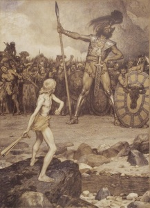 David and Goliath by Osmar Schindler. Image courtesy of wikipedia.org