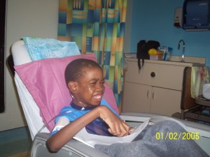 My son recovering after cardiac surgery