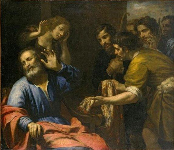 Joseph's Coat Brought to Jacob by Giovanni Andrea de Ferrari, c. 1640