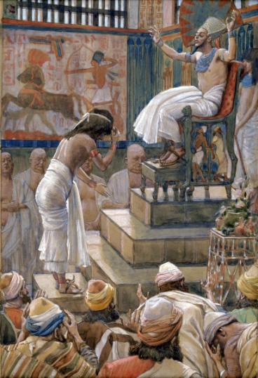 Joseph and His Brethren Welcomed by Pharaoh, watercolor by James Tissot (c. 1900) Image courtesy of wikipedia.org