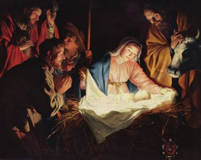 """Adoration of the Shepherds"" by Gerard van Honthorst, 1622. Image courtesy of wikipedia.org"