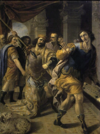 Saul threatening David, by José Leonardo. Image courtesy of wikipedia.org