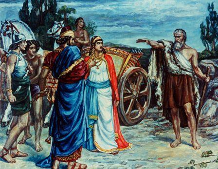 Jezebel and Ahab meeting Elijah, print by Sir Francis Dicksee (1853-1928). Image curtesy of Wikipedia.org
