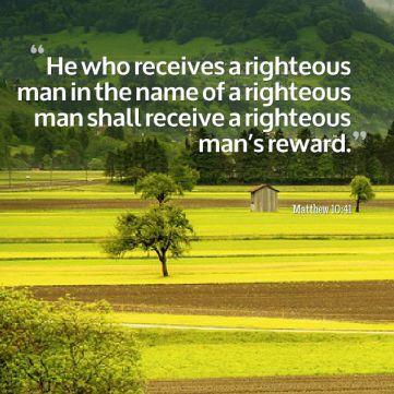 righteous man reward