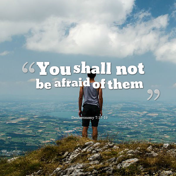you shall not be afraid