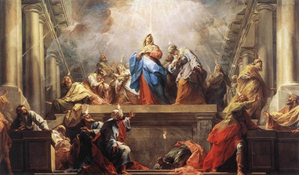 A Western depiction of the Pentecost, painted by Jean II Restout, 1732. Image courtesy of wikipedia.org