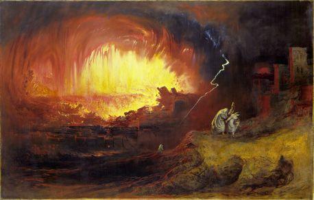 The Destruction of Sodom and Gomorrah, John Martin, 1852. Courtesy of wikipedia.org