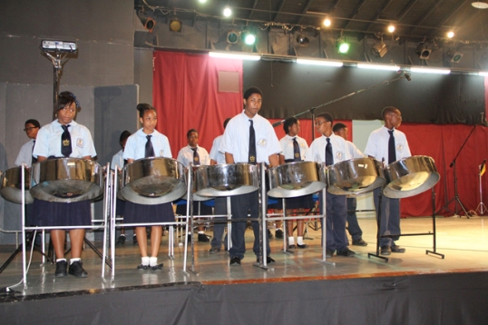Elmore Stoutt High School Steel Pan. Image courtesy of BVI Platinum