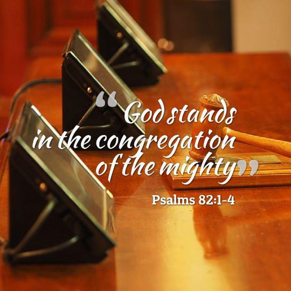 God stands