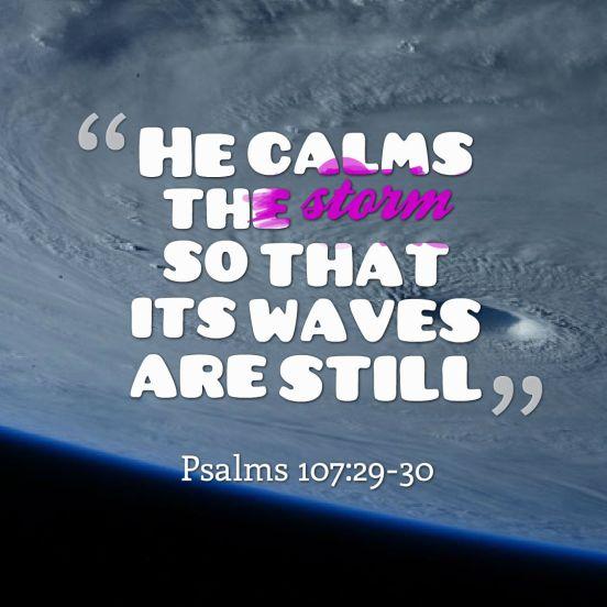 he calms
