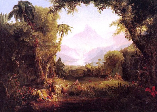 """The Garden of Eden"" by Thomas Cole (c. 1828). Image courtesy of wikipedia.org"