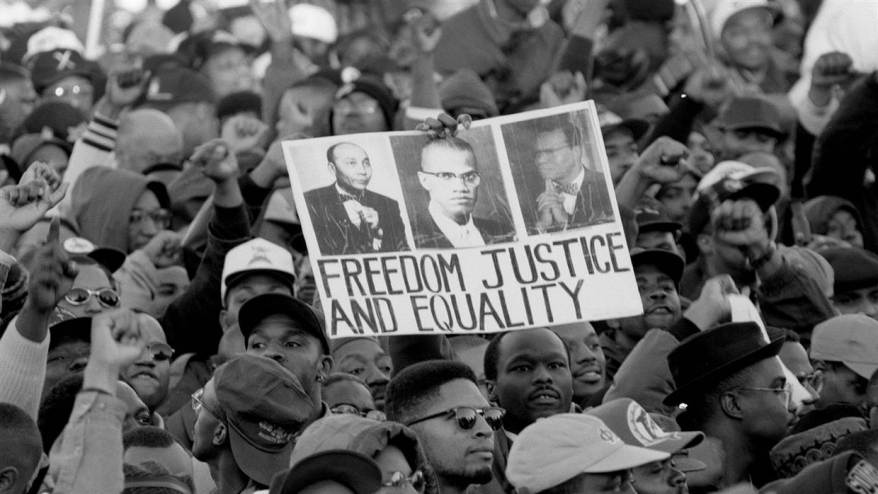 Crowd at the million-man march in 1995. NBC NEWS