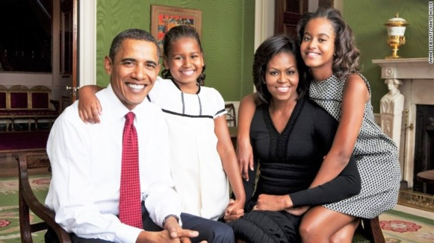 The Obama family in the White House. Image source: Starchanges.com