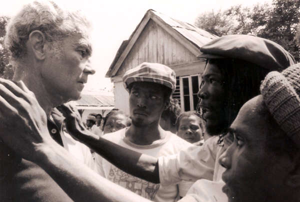 Michael Manley always remained in communication with the people, in good times and bad. Even when they were hurting from economic hardships in the late 1970s and were on the verge of voting his party out of office, the people knew that he was in their corner. (The Michael manley Foundation)