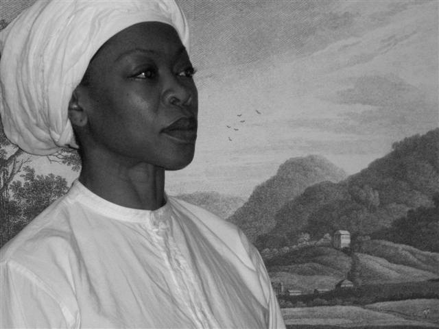 """nanny was a mother, warrior and spiritual leader of the Maroons in Jamaica. """"He teaches my hands to make war, So that my arms can bend a bow of bronze. (Psalms 18:34). Image source: http://geleyi.com"""