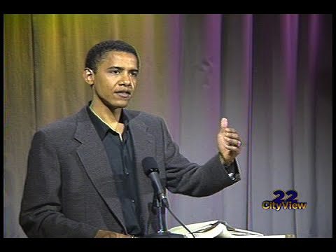 "22-CityView presents Barack Obama speaking at the Cambridge Public Library. Recorded on September 20,1995. He read from his book """"Dreams from My Father: A Story of Race and Inheritance,"" YouTube"