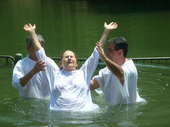 """I indeed baptized you with water, but He will baptize you with the Holy Spirit."""" (Mark 1:8)"""