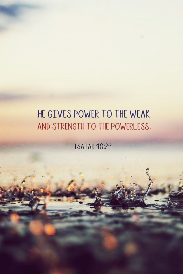 Power To The Weak – Becoming the Oil and the Wine