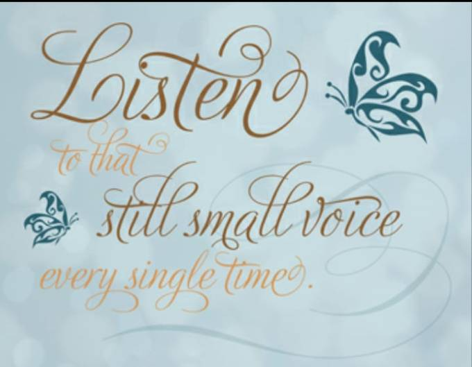 Image result for LISTENING FOR THAT STILL VOICE