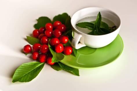 mint cherries